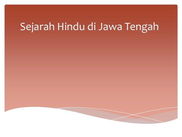Sejarah Hindu di Jawa Tengah