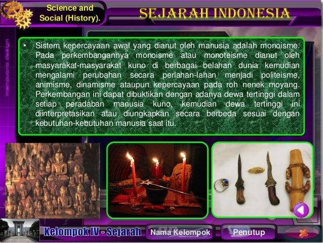 Sejarah sistem kepercayaan
