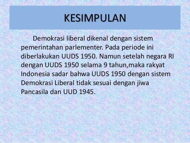 Demokrasi Liberal Dan Demokrasi Terpimpin