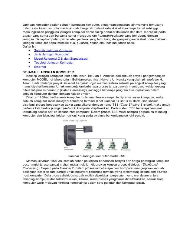 Jaringan komputer adalah sebuah kumpulan komputer, printer dan peralatan lainnya yang terhubungdalam satu kesatuan. Inform...