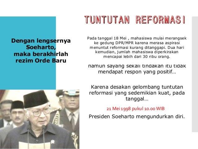 B. Perkembangan Pemerintahan pada Masa Reformasi