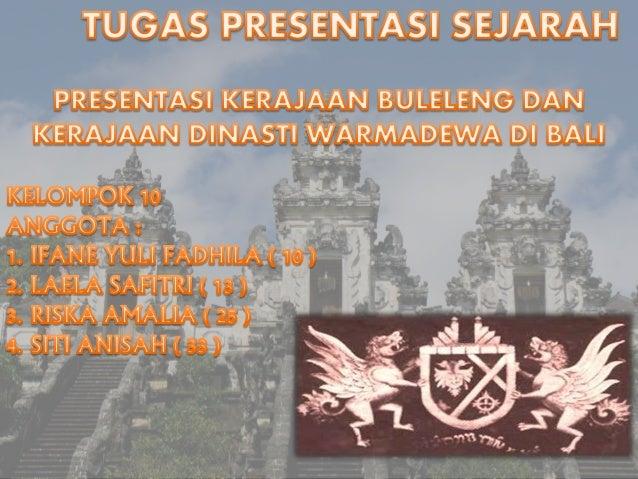 Sejarah kerajaan buleleng dan kerajaan dinasti warmadewa