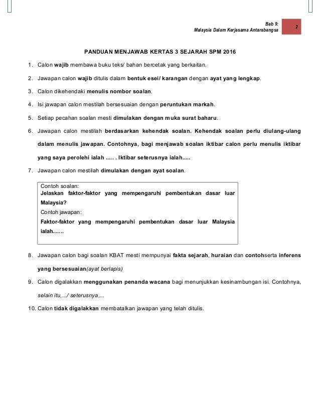 Sejarah Kertas 3 Spm 2016 Melaka