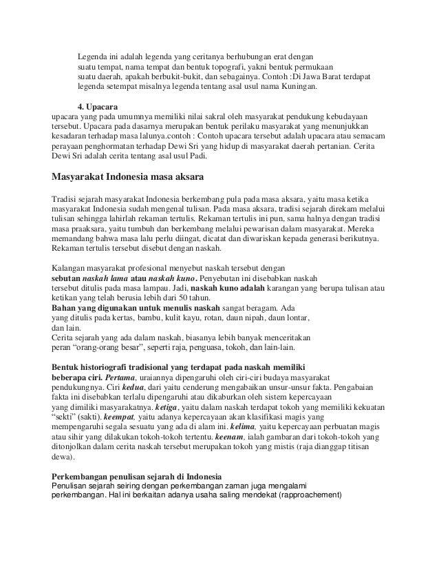 Rangkuman Materi Sejarah Sma 1 Tradisi Masyarakat Indonesia