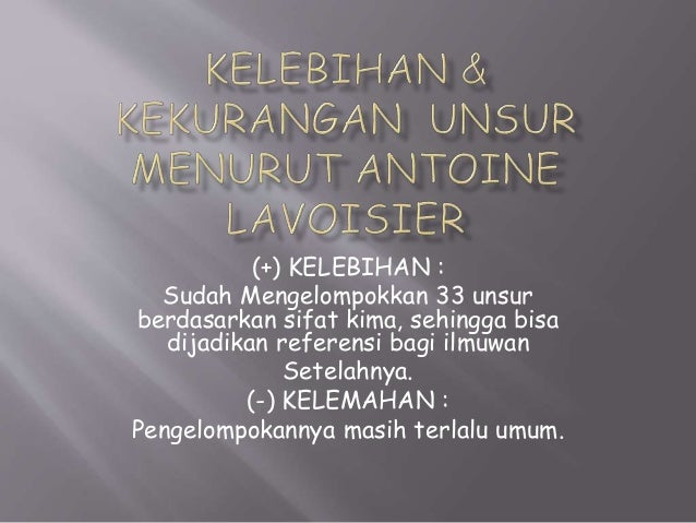 Triade Litium(Li) Natrium(Na) Kalium(k) Triade Kalsium(Ca) Stronsium(Sr) Barium(Br) Triade Klor(Cl) Brom(Br) Iodium(I)