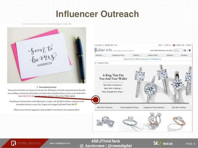 www.rowedigital.com PAGE 15 #SEJThinkTank @_kevinrowe   @rowedigital Influencer Outreach