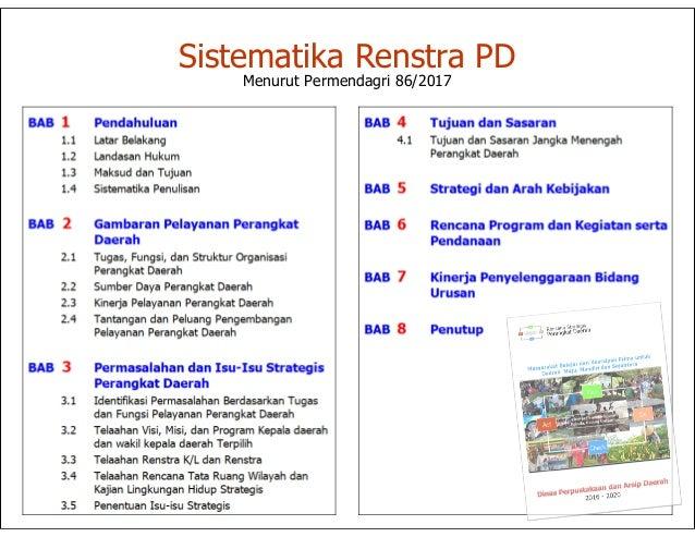 Sekelumit tentang Renstra OPD menurut Permendagri 86/2017 Slide 3