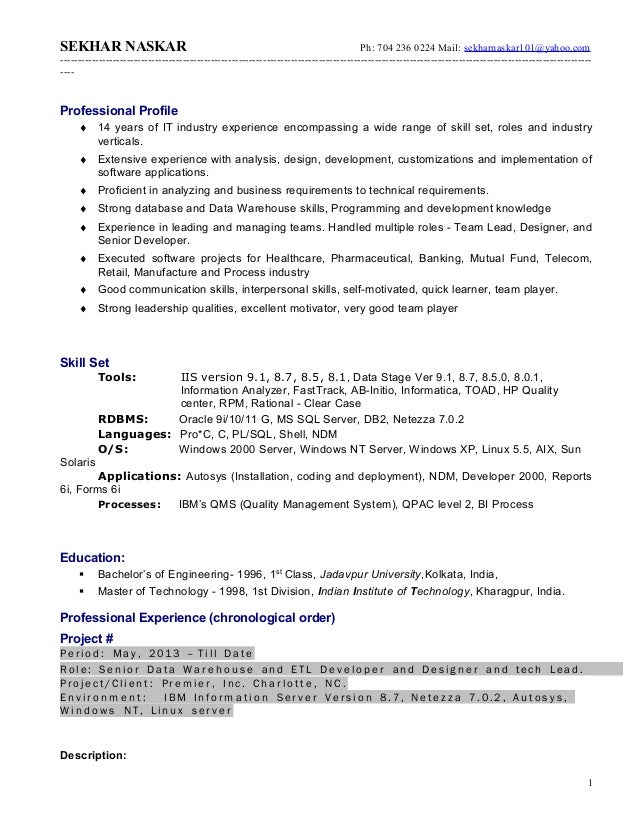 Amazing Datastage Resume Gallery - Simple resume Office Templates .