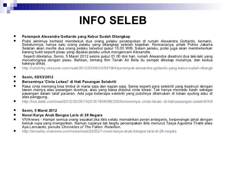 Sekilas info seleb week 1210 Slide 3