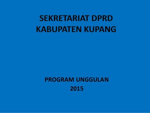 PROGRAM UNGGULAN 2015