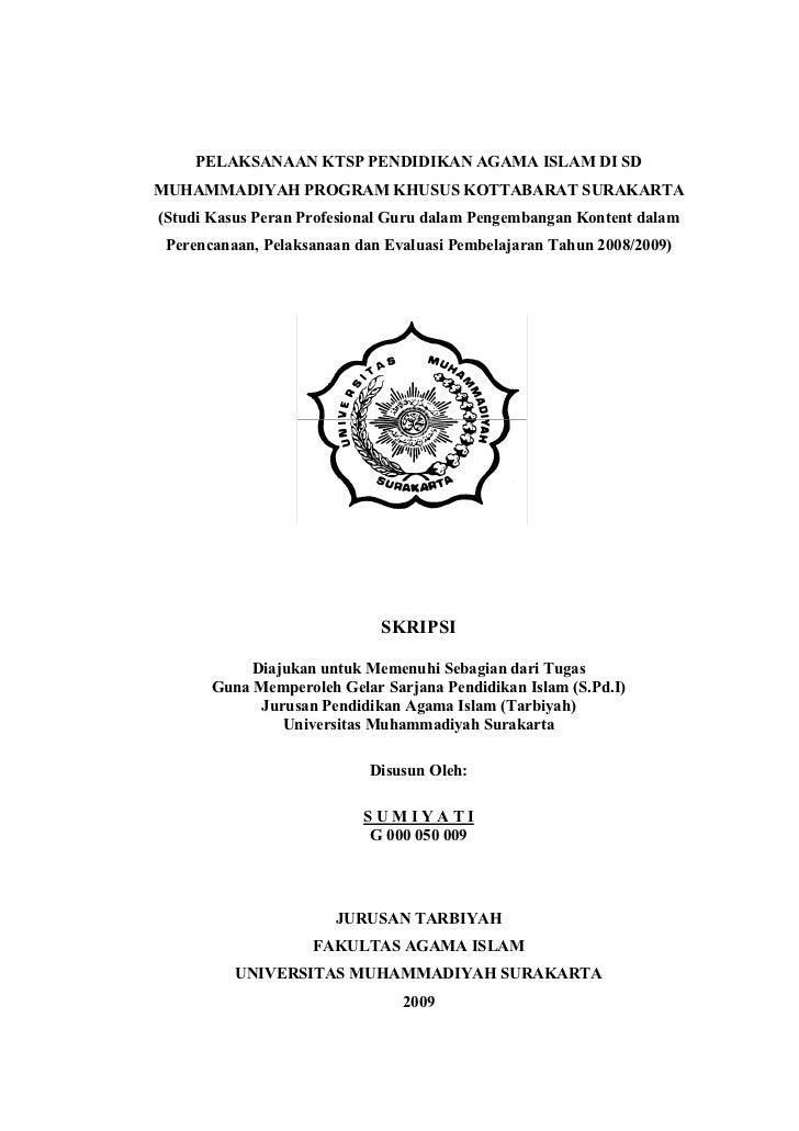 Contoh Proposal Skripsi Penelitian Kualitatif Pai