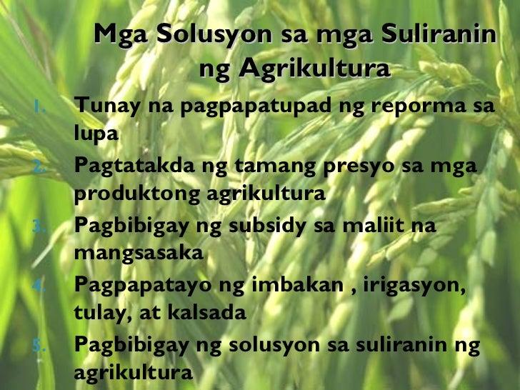 agrikultura ng pilipinas Kung tatalakayin natin ang kasalukuyang kalagayan ng ating bansa, masasabi nating humina ang ekonomiya ng pilipinas dahil sa epekto ng global.