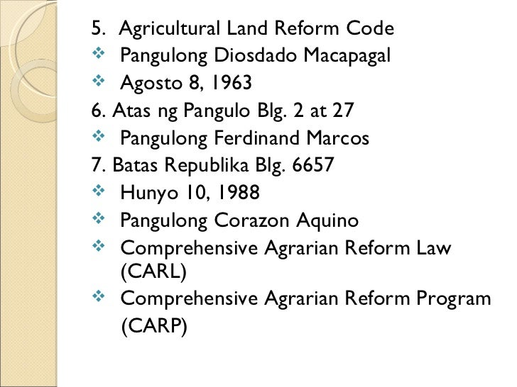 comprehensive land reform law
