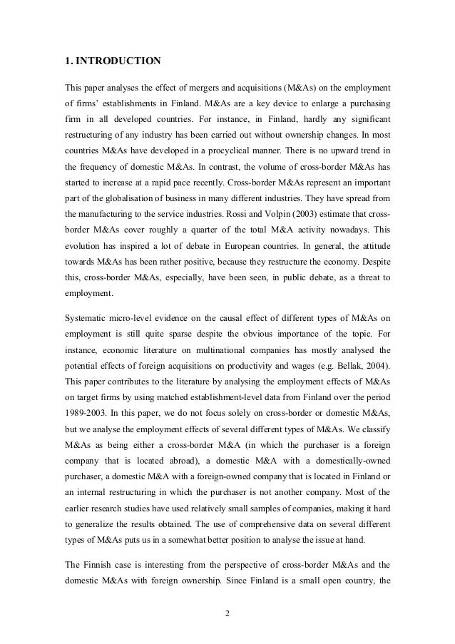 the wealth effect of cross border mergers Impact of mergers and acquisitions on shareholders' wealth key words mergers and acquisitions (m&a) m&a announcement abnormal returns listing effect stock return behaviour performance of acquiring firms includes the announcement of cross-border acquisitions provides much higher.