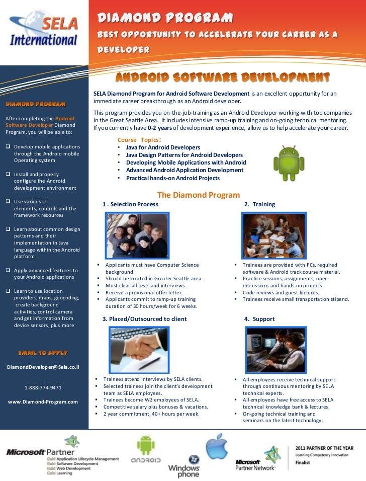 Information Technology                                      Solutions                                SELA Diamond Program ...