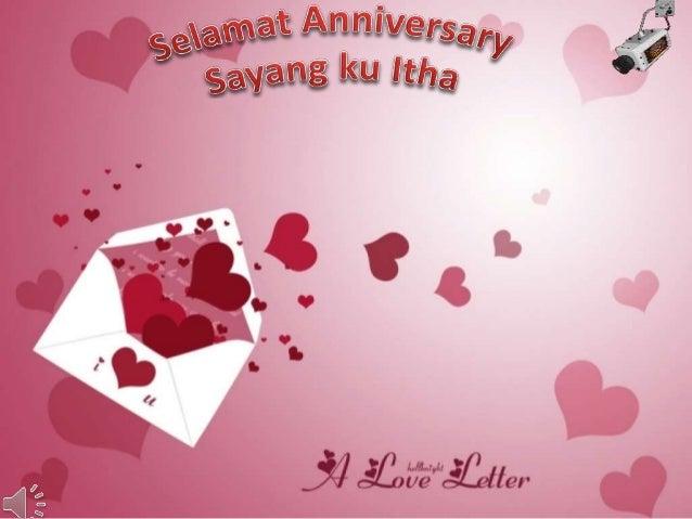 Selamat anniversary sayang