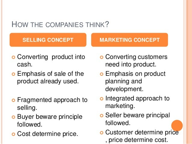 difference betweeen marketing concept and selling Difference between markting concept selling concept product concept production concept  discuss primary difference between selling and marketing concept.