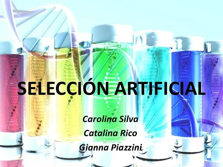 SELECCIÓN ARTIFICIAL       Carolina Silva       Catalina Rico      Gianna Piazzini