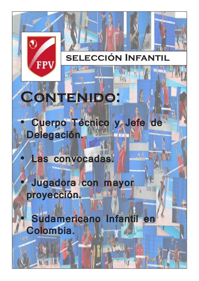 SELECCIÒN INFANTIL DE VOLEIBOL FEMENINO DEL PERÛ Slide 2