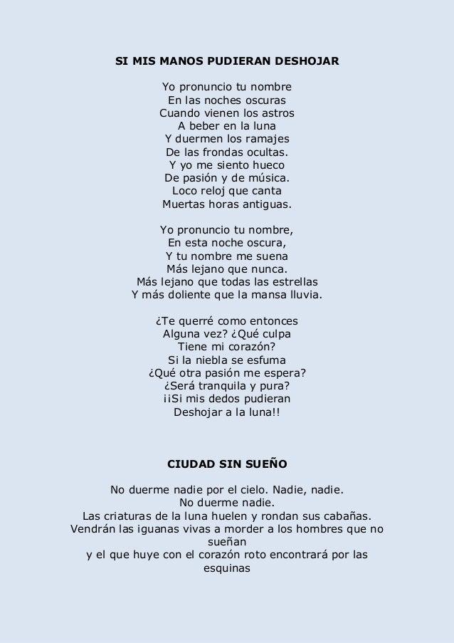 Selección Poemas Lorca
