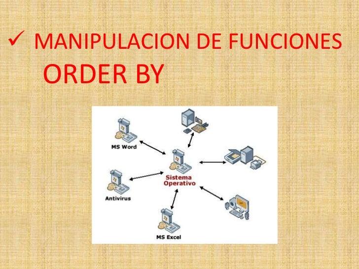  MANIPULACION DE FUNCIONES  ORDER BY