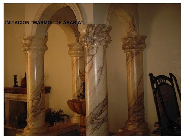 Trabajos de pintura decorativa for Pintura color marmol