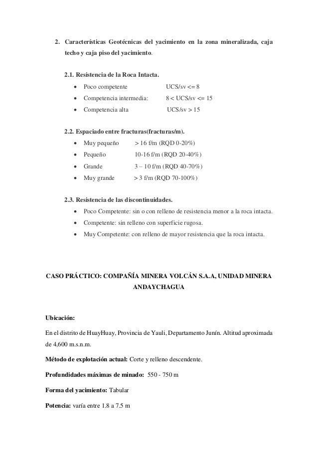 Seleccion metodo de minado, metodo numerico de nicholas Slide 3