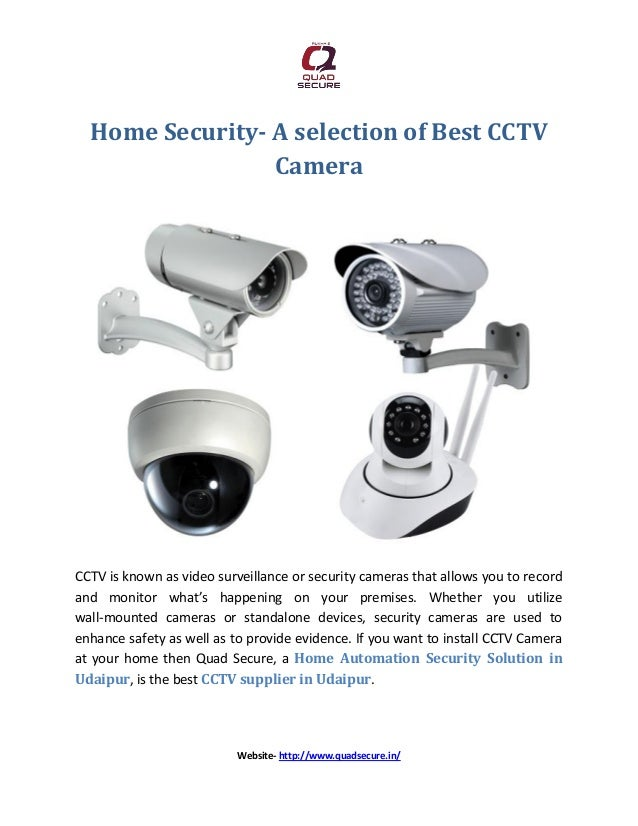 Home Security A Selection Of Best Cctv Camera