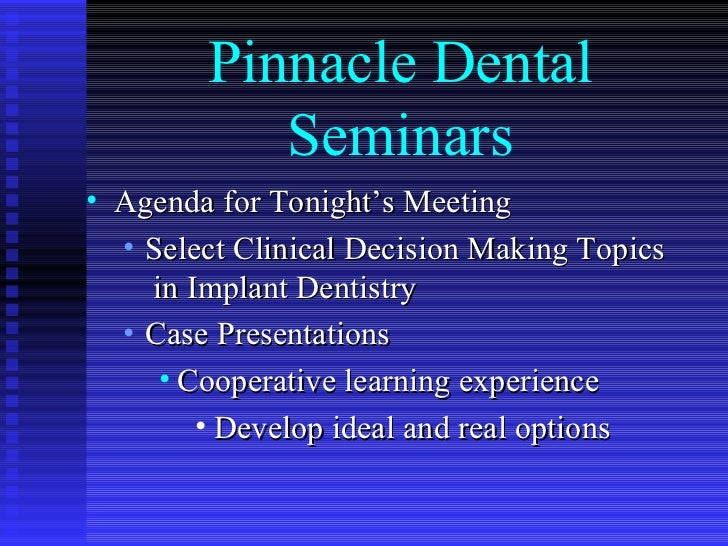 "Long Island Dental Implant Surgeon presents ""Select Dental Implant Clinical Decision Making Topics"""