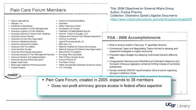 Title: 2006 Objectives for External Affairs Group Author: Purdue Pharma Collection: Oklahoma Opioid Litigation Documents h...