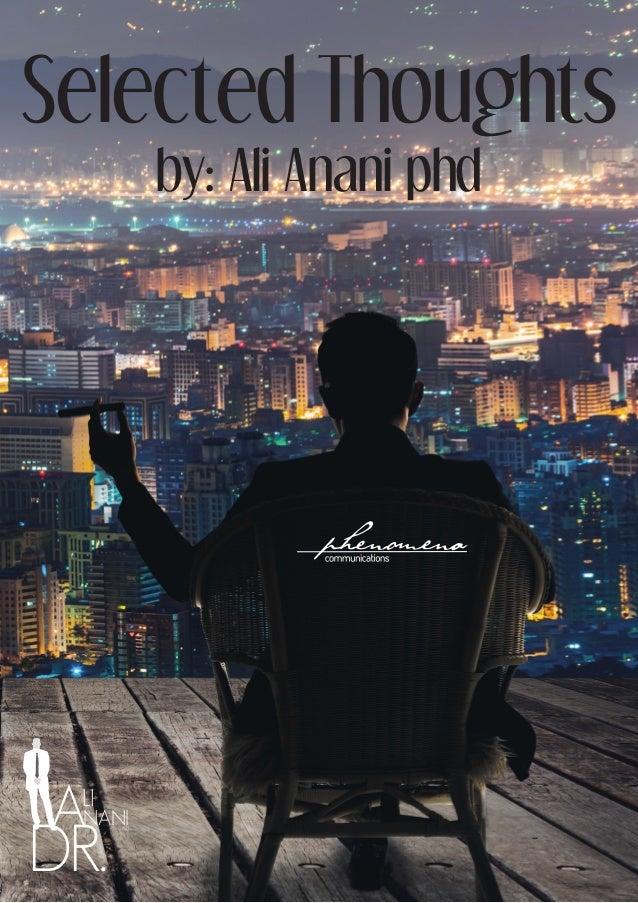 DR. NANI LI A Selected Thoughts by: Ali Anani phd