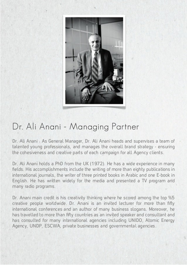 Managing Partner Phenomena Communications DR. NANI LI A