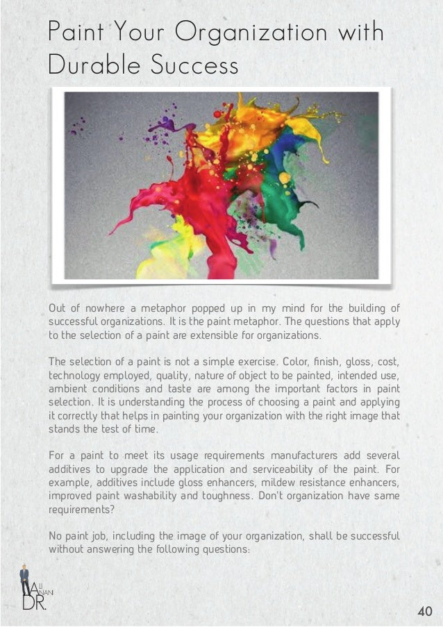 DR. NANI LI A • Purpose of the painted room (purpose of the organization). You don't want a striking color for a bedroom. ...
