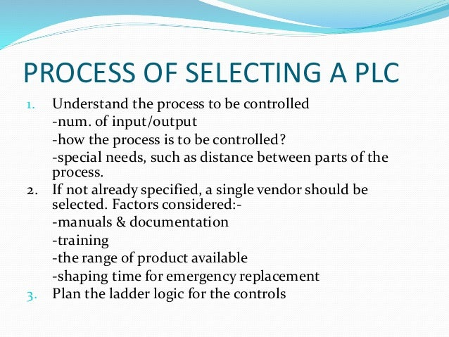 Selecting A Plc