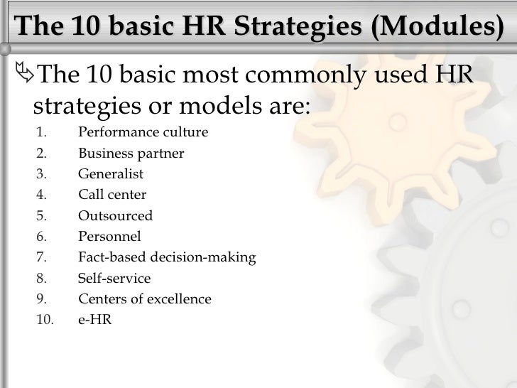 Selecting a successful hr (strategy)modules (sample 2012)