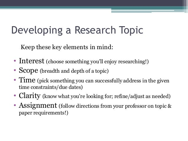 selecting a topic for a research paper Selecting a topic for a research paper - cooperate with our writers to get the excellent review meeting the requirements forget about your worries, place your task here and receive your professional paper in a few days get to know basic tips how to get a plagiarism free themed research paper.