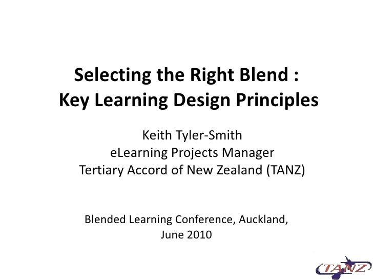 Selecting Right Blend Tyler Smith