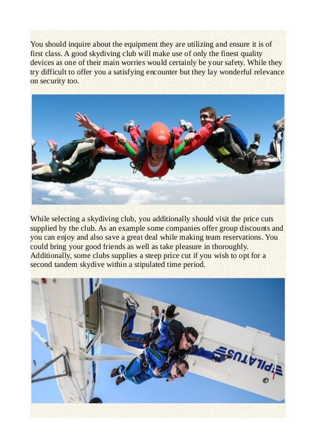 Selecting the best skydiving club for skydiving in australia