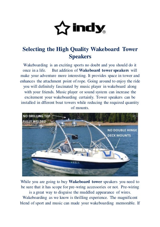 How To Wire Wakeboard Tower Speakers - Best Tower 2018