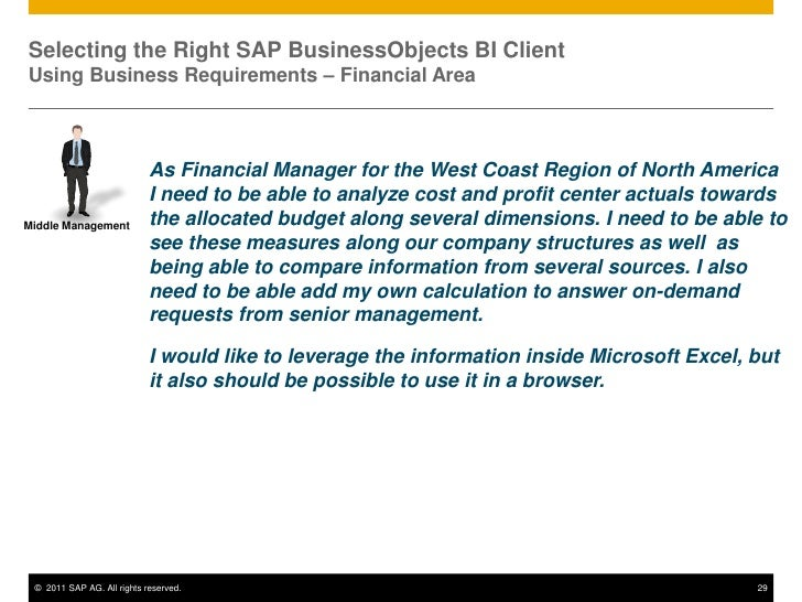 Selecting the Right SAP BusinessObjects BI Client Product for SAP BW …