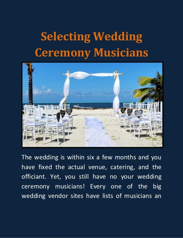 Selecting Wedding Ceremony Musicians