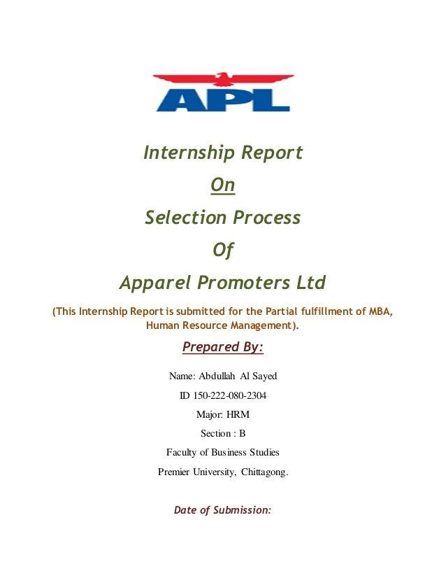 Apparel Promoters Ltd