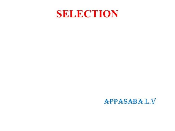 SELECTION      AppAsAbA.L.V