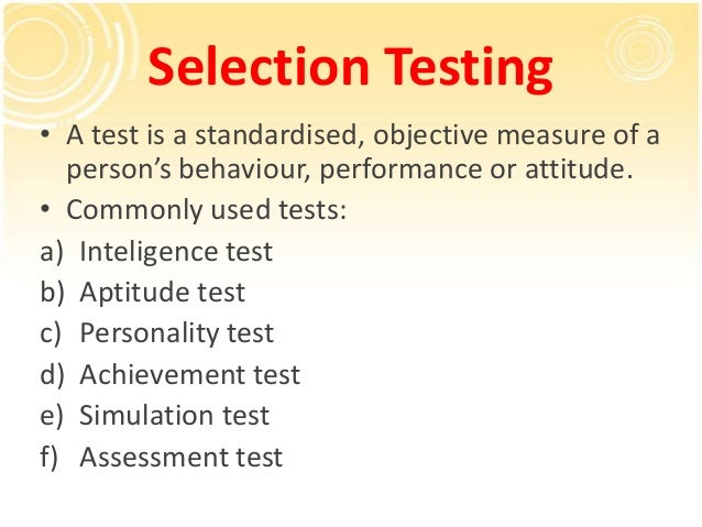 Objective Personality Tests