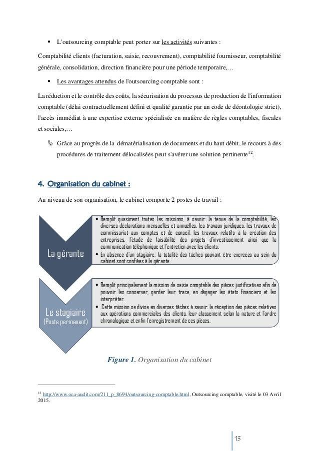 Organisation cabinet comptable - Rapport de stage dans un cabinet comptable ...