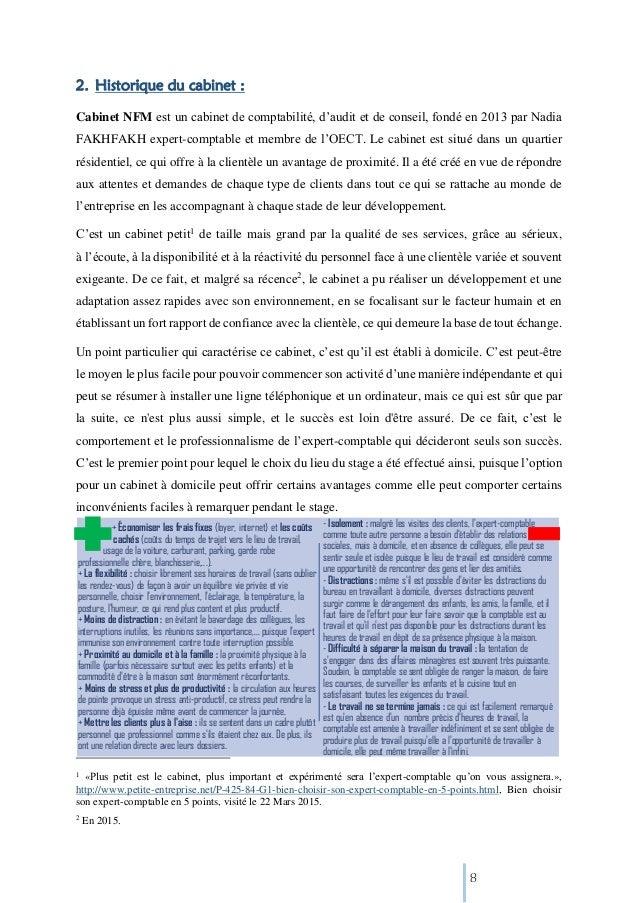 Cabinet expert comptable stage - Rapport de stage dans un cabinet comptable ...