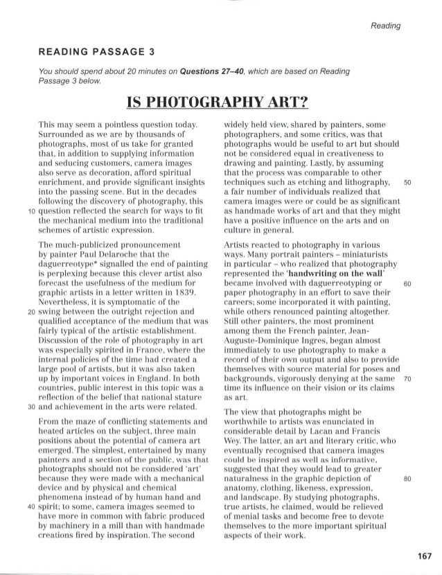 Is Photography Art Ielts Reading Answers Mentor – +1001 Types of