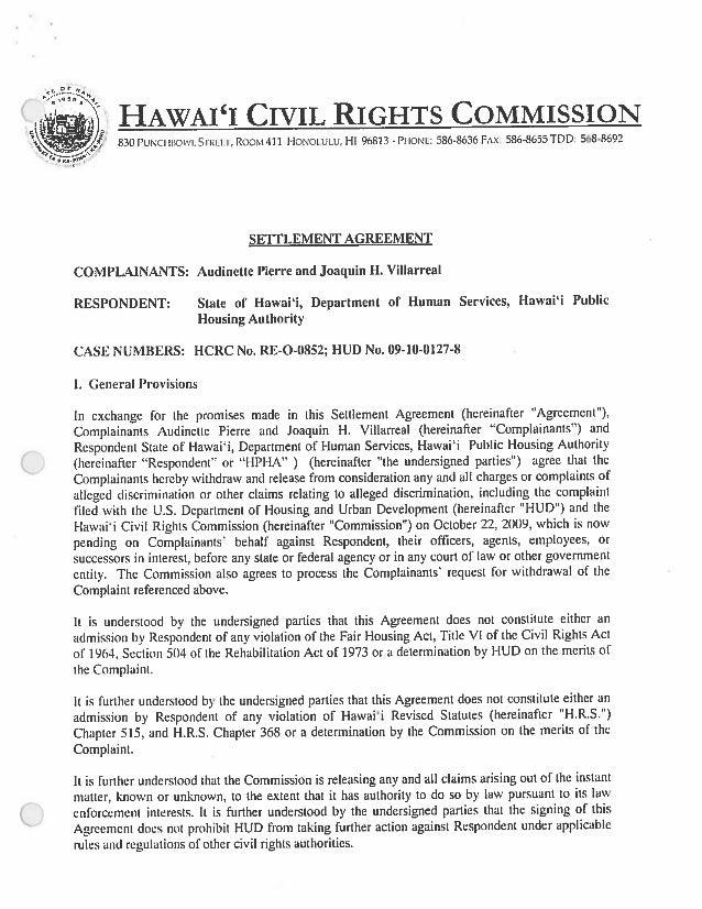 Pierre Settlement Agreement