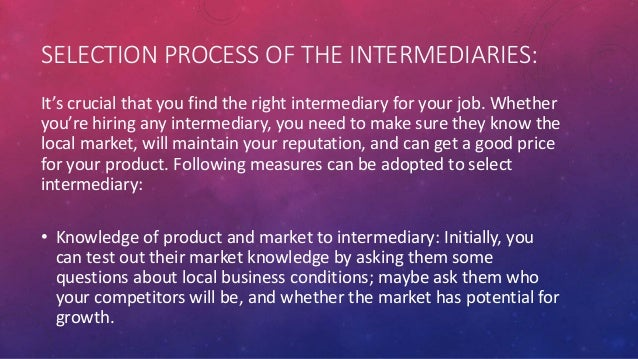 how to get a job with no intermediaries