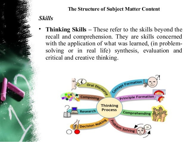 The Structure of Subject Matter Contentoriginal thinking – is thinking that differs  from whats gone before. Thought produ...